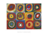 Colour Study - Squares And Concentric Circles Giclee Print by Wassily Kandinsky