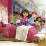 Dora And Friends XL Chair Rail Prepasted Mural Wallpaper Mural