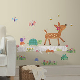 Woodland Baby Animal Log Peel And Stick Wall Decals Wall Decal