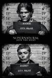 Supernatural- Mug Shots Kunstdruck