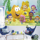 Bubble Guppies XL Chair Rail Prepasted Mural Wallpaper Mural