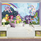 My Little Pony Ponyville XL Chair Rail Prepasted Mural Wallpaper Mural