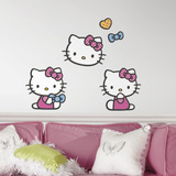 Hello Kitty Foam Characters Wall Decal