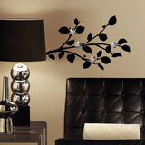 Modern Realistic Branch Peel And Stick Wall Decals With Bendable Flower Mirrors Wall Decal
