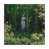 The Edge of the Woods Premium Giclee Print by Charles Courtney Curran