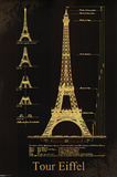 Eiffel Tower Design Posters
