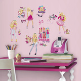 Barbie Pinktastic Peel And Stick Wall Decals Wall Decal