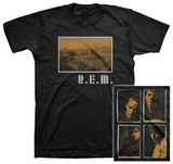 R.E.M- Postcard Throwback Design (slim fit) T-shirts