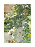 In Alhambra Park, 1887 Premium Giclee Print by Anders Zorn