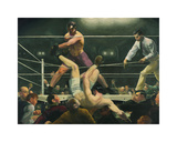 Dempsey and Firpo Premium Giclee Print by George Wesley Bellows