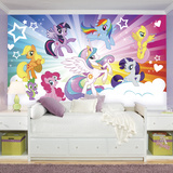 My Little Pony Cloud XL Chair Rail Prepasted Mural Wallpaper Mural