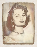 Movie Star III - Sophia Loren Giclee Print by  The Vintage Collection