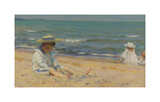 On The Beach, Lake Erie Premium Giclee Print by Charles Courtney Curran