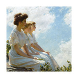 On the Heights Premium Giclee Print by Charles Courtney Curran