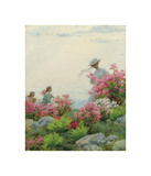 Among the Wild Azaleas Premium Giclee Print by Charles Courtney Curran