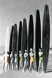 Surfin' Gals - Colour Pop Giclee Print by  The Chelsea Collection