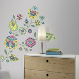 Boho Floral Peel And Stick Giant Wall Decals Wall Decal