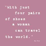Enough Shoes Impressão giclée por Maria Mendez