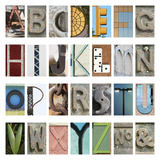 Urban Alphabet Giclee Print by Mike Toy