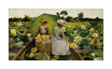 Lotus Lilies Premium Giclee Print by Charles Courtney Curran