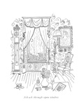 Ack-ack through open window - New Yorker Cartoon Premium Giclee Print by Saul Steinberg