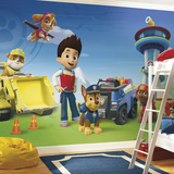 Paw Patrol XL Chair Rail Prepasted Mural Wall Mural