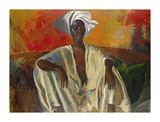 Seated in White Premium Giclee Print by Boscoe Holder