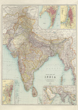 Thacker's Reduced Survey Map of India Prints