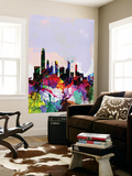 Hong Kong Watercolor Skyline Wall Mural by  NaxArt