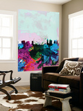 Melbourne Watercolor Skyline Wall Mural by  NaxArt