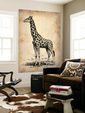 Vintage Giraffe Wall Mural by  NaxArt