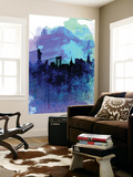 New York Watercolor Skyline 2 Wall Mural by  NaxArt