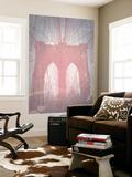 Brooklyn Bridge Red Wall Mural by  NaxArt