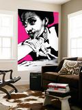 Aisha Pink Wall Mural by  NaxArt