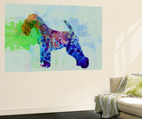 Welsh Terrier Watercolor Wall Mural by  NaxArt