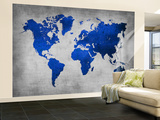 World  Map 10 Wall Mural – Large by  NaxArt