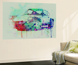 Porsche 911 Watercolor 2 Wall Mural by  NaxArt