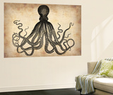 Vintage Octopus Wall Mural by  NaxArt