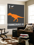 Yellow on Grey Dinosaur Wall Mural by  NaxArt