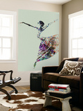 Ballerina Watercolor 3 Wall Mural by  NaxArt