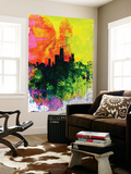 Chicago Watercolor Skyline Wall Mural by  NaxArt