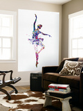 Ballerina Dancing Watercolor 2 Wall Mural by Irina March