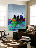 Minneapolis Watercolor Skyline Wall Mural by  NaxArt