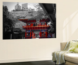 Temple In Tokyo Wall Mural by  NaxArt