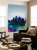Kansas City Watercolor Skyline Wall Mural by  NaxArt