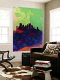 Pittsburgh Watercolor Skyline Wall Mural by  NaxArt