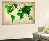 World Watercolor Map 6 Vægplakat af NaxArt