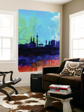 Vienna Watercolor Skyline Wall Mural by  NaxArt