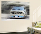 1974 BMW 2002 Turbo Watercolor Wall Mural