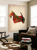 Scottish Terrier Watercolor 2 Wall Mural by  NaxArt